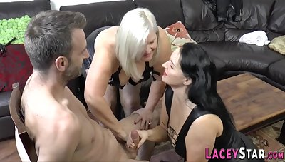 Old whore gets toyed and shagged - GILF triplet