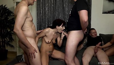 Sexy Samy Saint likes rough group sex in excess of anything else