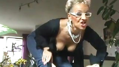 Amateur German granny shows her precedent-setting anal toy