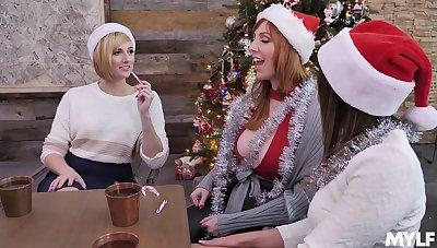 Natasha Ianova, Kate England & Lauren Phillips - A Uninhibited MILFs Xmas