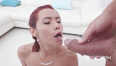 Veronica Leal - Assfucking & facsimile fuck 3on1 with Gonzo monsters