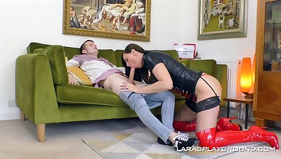 Good hard fucking for Lara totalitarian with a first-rate facial