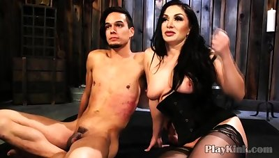 Bigtitted Milf Playing With Bound Challenge fro Bdsm Porn