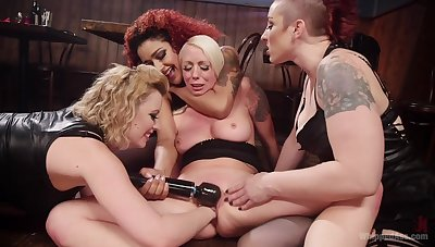 MILFs suffer toys in both their wet holes during a rough XXX