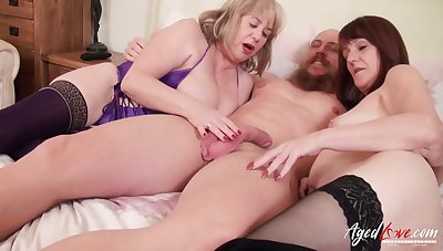 Lovely british matures and horny handy man hardcore troika party