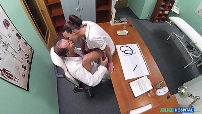 Insane nurse porn while both being filmed wide secret