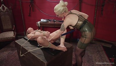 Mistress treats her slave with rough passion and lust
