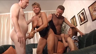 What slut can resist a nice orgy and these ladies are quite mature