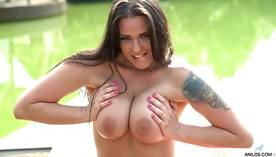 Simony Diamond is a big titted brunette who can not stop bringing off with diverse dealings toys