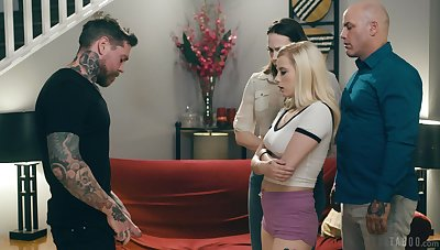 Tattooed defy loves gagging be imparted to murder tow-headed and fucking their way cherry