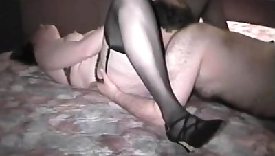 Mature british lady in stockings jizzed at the end of one's tether lay