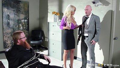 Boss near a huge member persuaded blonde secretary for sex - Bridgette