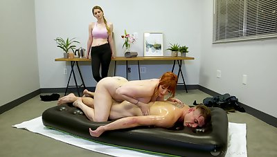 Legendary nuru massage by revealing powerful cougar masseuse Lauren Phillips