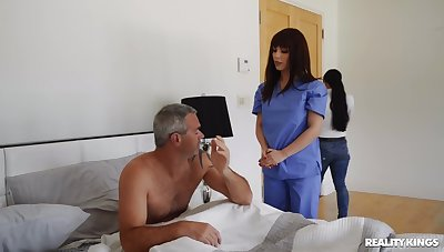 Hot be concerned treats patient with proper pussy