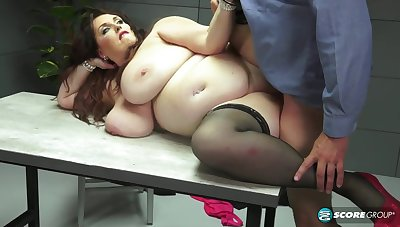 Fat prurient lady gets pounded hard