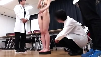 Japanese schoolgirl bondage with school uniform added to gym lodge