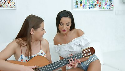 Gorgeous teen lesbians are keen for a cool word-of-mouth together
