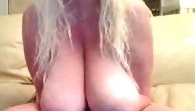 Burly boob play. Chunky saggies. For Chunky teat lovers.