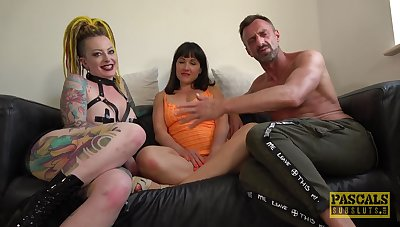 MILFs get totaled in a fine unpaid threesome on cam