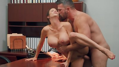 In toto completely secretary gets shagged by say no to adept boss