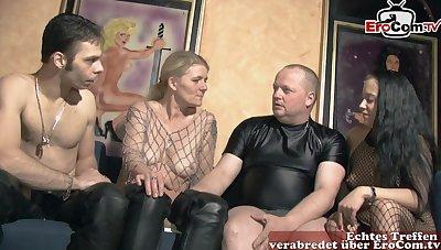 German non-professional groupsex swinger orgy