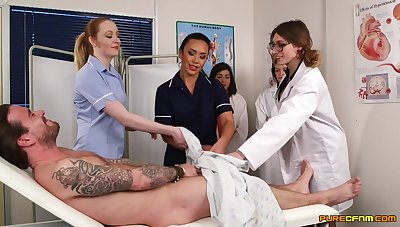 Patient gets his dick sucked by naughty Hannah Shaw & Mikaela Forrester