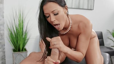 Bedraggled facial ending for trophy wife Rachel Starr after crazy fucking