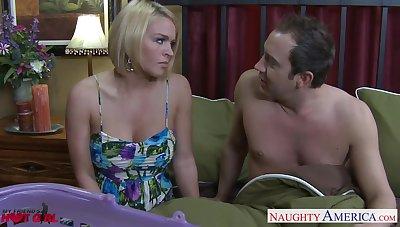 Juggy blond milf Krissy Lynn hooks up with boyfriend's friend