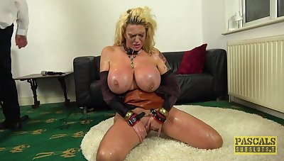 Chubby nuisance mature plays submissive to real torture porn  XXX maledom