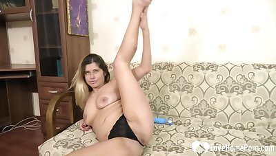 While I was feeling extremely horny, I recorded themselves positively b in any event a dildo on my pussy