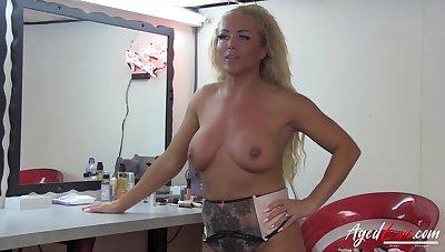 Ancient blonde mature Jane Smyth and Chris Cobalt Rough Sex - Blowjob