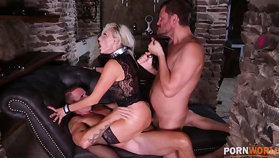 Submissive Milf Brittany Bardot gets anal prolapse getting DP'd hardcore GP1289