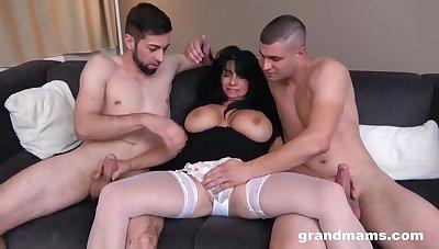 Granny's Finally a Whore - DP - Threesome